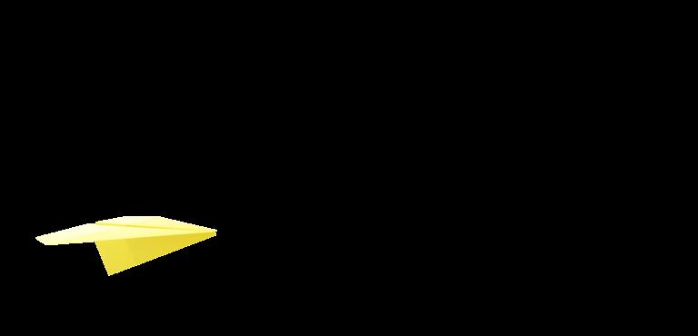 新卒採用 黄色の紙飛行機