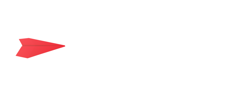 パートナー採用 赤色の紙飛行機