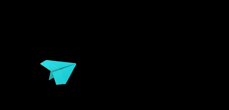 中途採用 緑色の紙飛行機